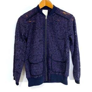 Elevenses Miranda Lace Bomber Jacket